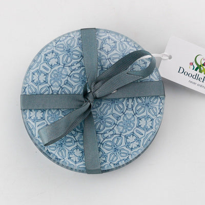 Grey Blue Coaster Gift Set