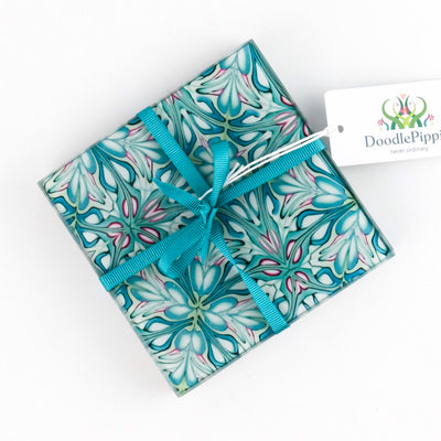 Flourishing garden glass coasters