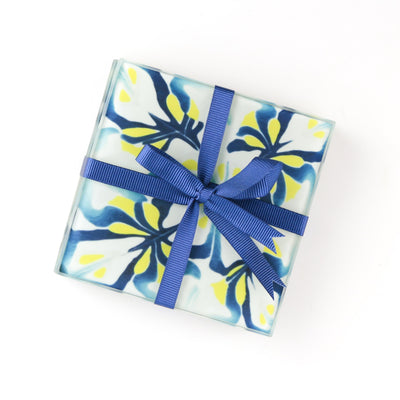 """Modern Floral"" Drinks Coaster Set"