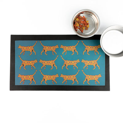 'Stripy Jungle Cat' Placemat - DoodlePippin