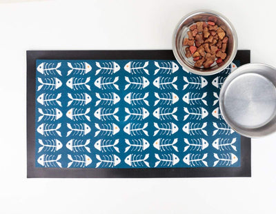 Scandi 'Bonefish' Cat food place mat - DoodlePippin