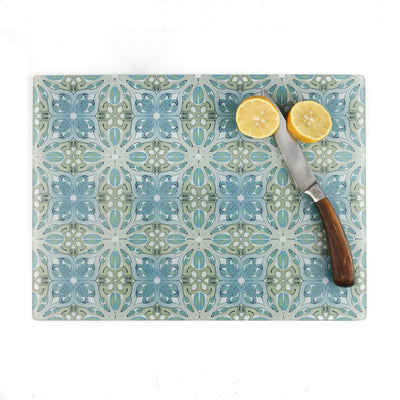 Sea Blue and Green Art Deco Worktop Protector