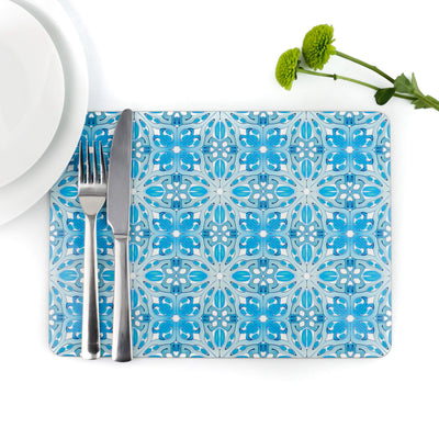 Art Deco placemat - Turquoise