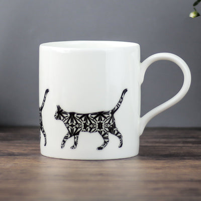 Black Cat mug - DoodlePippin