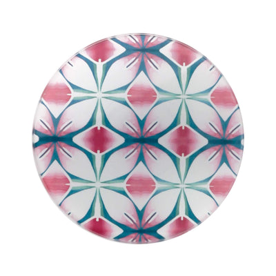 Pink and Teal Flower coasters