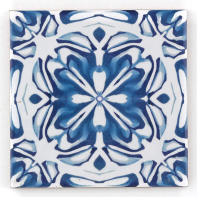 Delft kitchen tile - flower centre