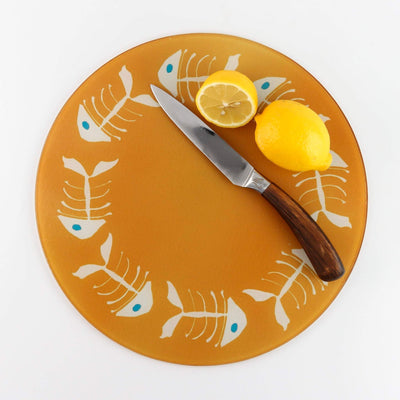 Funky Orange BoneFish Worktop Protector - DoodlePippin