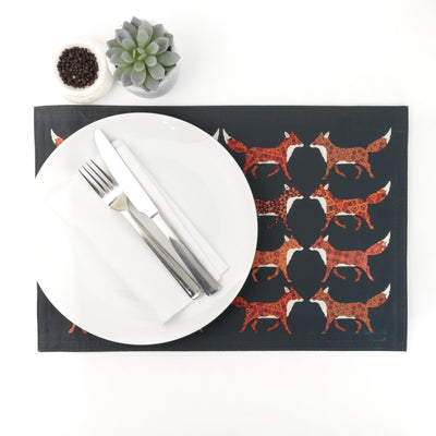 Red Foxes Dinner Place Mat - DoodlePippin