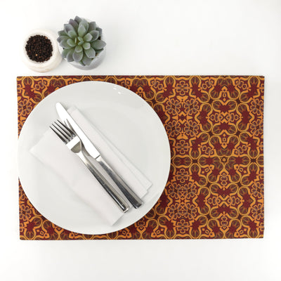 Medieval Red Gold Dining Table Mat - DoodlePippin