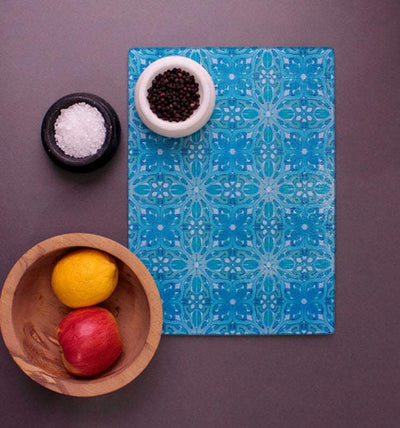 William Morris Design Cutting Board in Turquoise