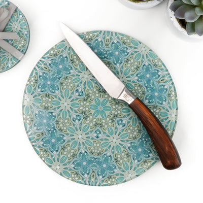 Sea Blue and Green Chopping Board