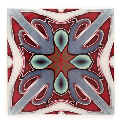 Deep red Victorian ceramic tiles