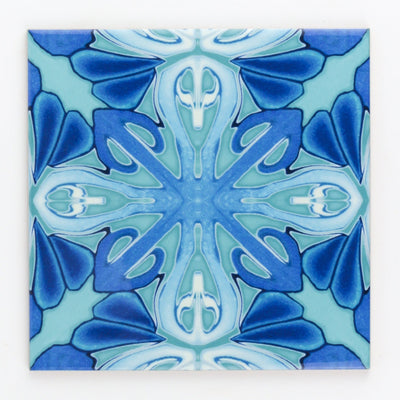Turquoise blue Art Deco ceramic tiles - DoodlePippin