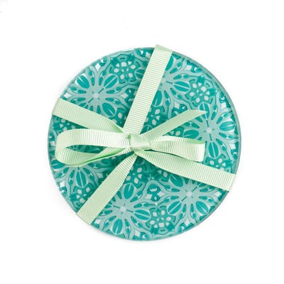 Pretty Mint Turquoise Coaster Set