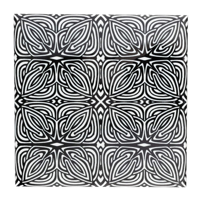 "Black white ""Celtic Knot"" design tile"