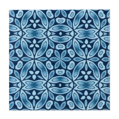 Liberty Print blue green kitchen splashback tiles