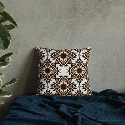 Orange Black Cream Mudcloth Cushion - Cover ONLY - DoodlePippin