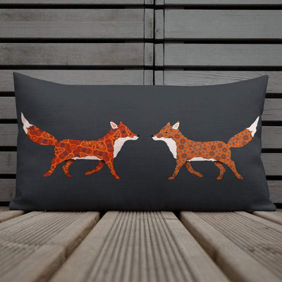 Rich Red Fox Cushion - Pad Included - DoodlePippin