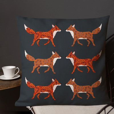 Red Fox Pillow - Pad Included - DoodlePippin