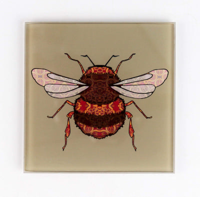Bumble Bee Coaster Set - golden beige