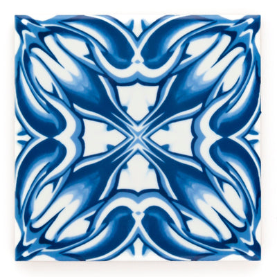 Blue Flower Victorian Border Tiles