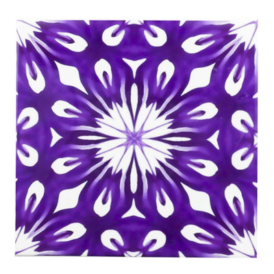 Royal Purple flower centre tiles - DoodlePippin