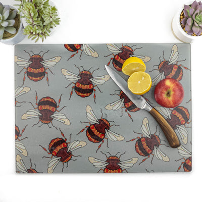 Large Red Gold Bumblebee worktop protector - DoodlePippin