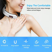 Electric Neck Massager & Pulse Back 6 Modes Power Control Far Infrared Heating Pain Relief Tool Health Care Relaxation Machine - Phoenix Massager Store
