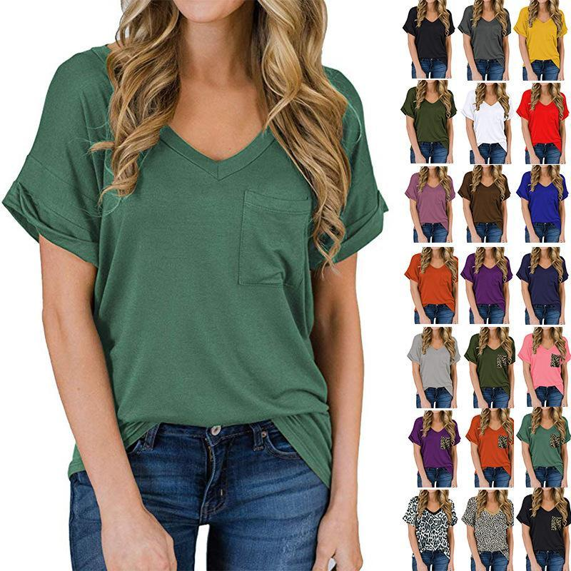 Waligood New V-neck Pocket T-shirt