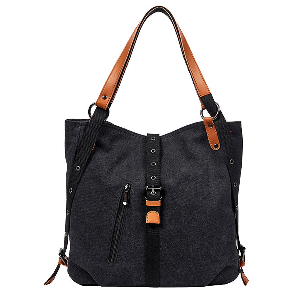 Canvas Backpack Shoulder Bag with Extra Large Capacity