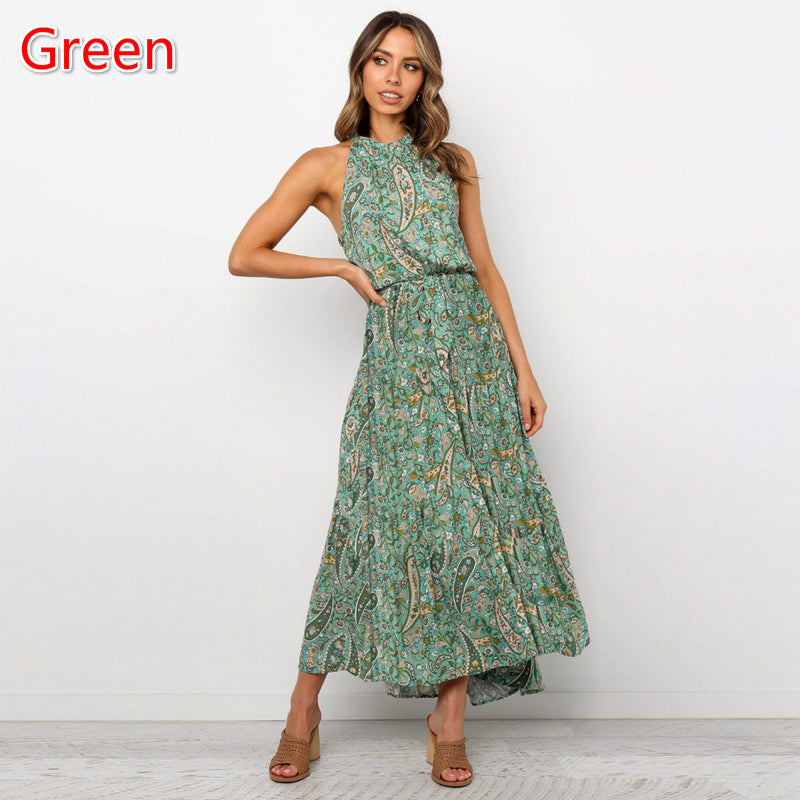 Womens New Printed Dress Sleeveless Floral Dress