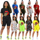 Womens Casual Plus Size Sports Suit