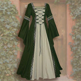 Vintage Celtic Long Sleeve Medieval Dress