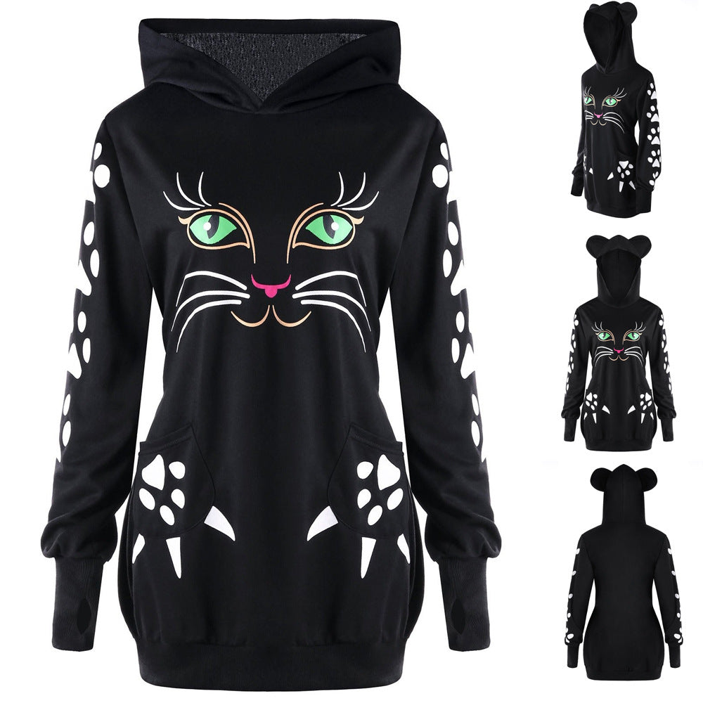 2020 Cute Cat Print Sweatshirts