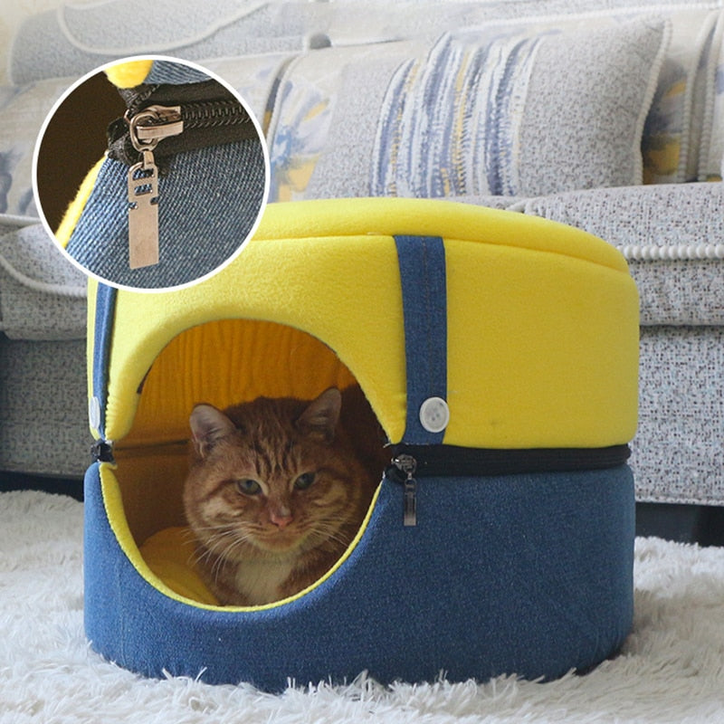 Pet Cat Tent House Winter Warm Nest
