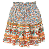 Women's Ruffled Print Skirt