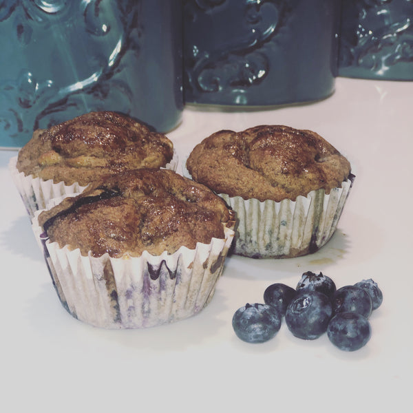 Gluten Free, Dairy Free Banana Blueberry Muffins- Local Delivery Only