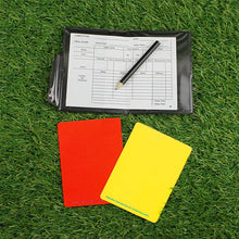 Load image into Gallery viewer, Fluorescent Red Yellow Cards with Leather Wallet
