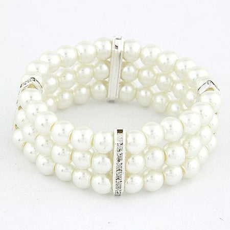 Women's White Strand Alloy Bracelet Jewelry Gold / Silver For Christmas Gifts Daily
