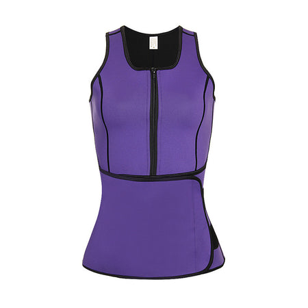 Women's Zipper Overbust Corset - Solid Colored / Fashion, Lace / Sporty / Stylish Purple Fuchsia Lavender XXXXL XXXXXL XXXXXXL