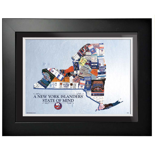 New York Islanders 12x16 State of Mind Framed Artwork