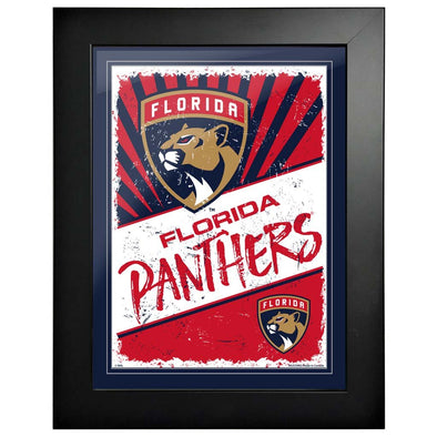 Florida Panthers 12 x 16 Classic Framed Artwork