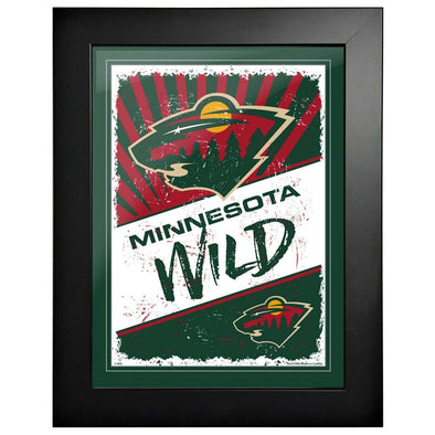 Minnesota Wild 12 x 16 Classic Framed Artwork