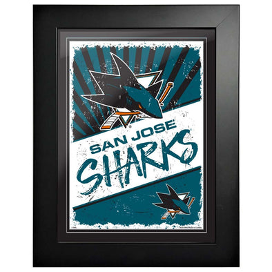 San Jose Sharks 12 x 16 Classic Framed Artwork