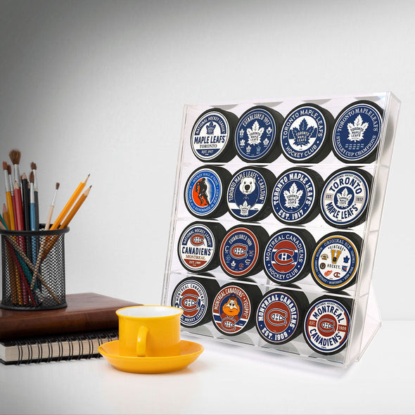 16 Puck Display