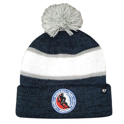47 Brand Youth Navy/White HHOF Pom Toque