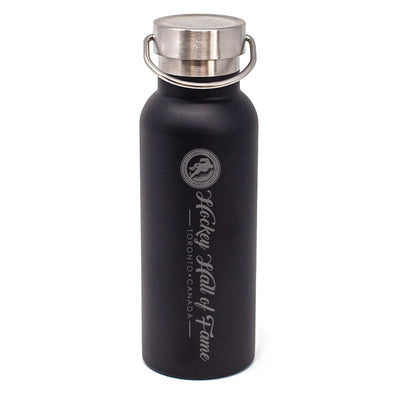 17oz Hockey Hall of Fame DuraEtch Powder Coated Stainless Steel Water Bottle - Black