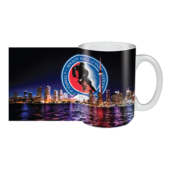 Hockey Hall of Fame 15oz. Sublimated City Scape Ceramic Mug