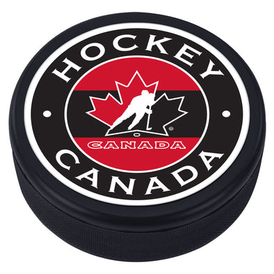 Team Canada Puck - Stripe Design
