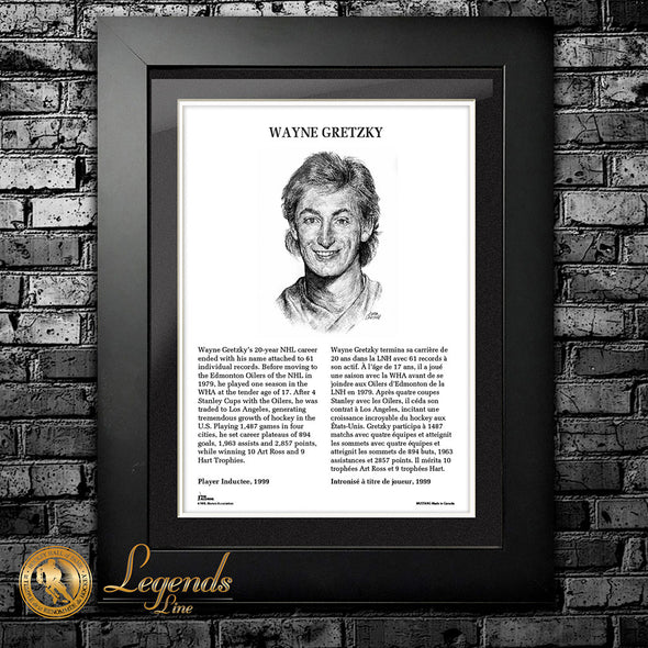 1999 Wayne Gretzky - Legends 12x16 Frame